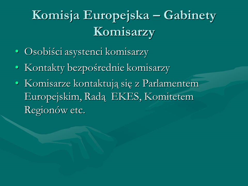 Komisja Europejska – Gabinety Komisarzy