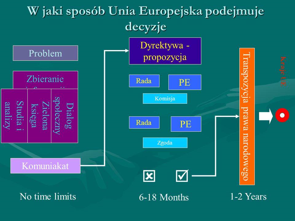 W jaki sposób Unia Europejska podejmuje decyzje