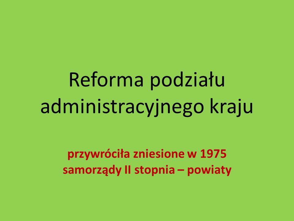 Reforma podziału administracyjnego kraju