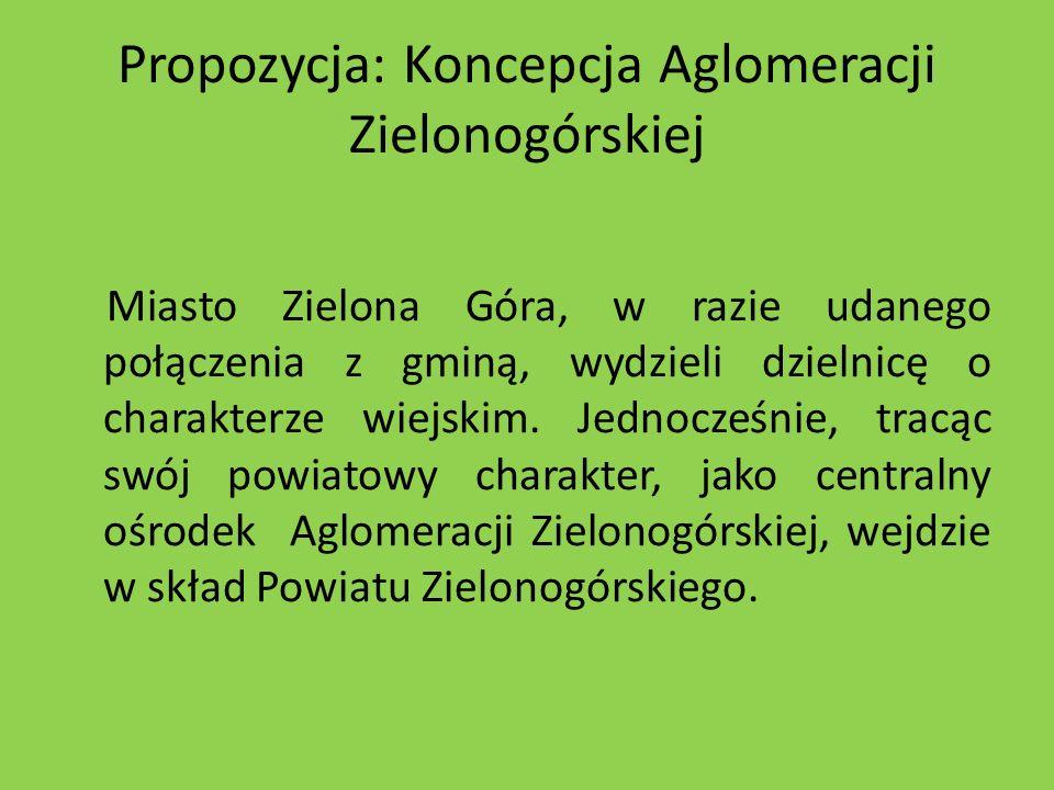 Propozycja: Koncepcja Aglomeracji Zielonogórskiej