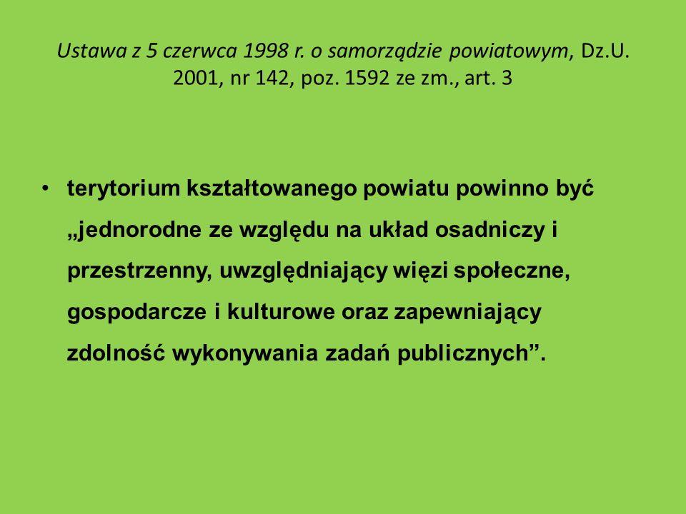 Ustawa z 5 czerwca 1998 r. o samorządzie powiatowym, Dz. U