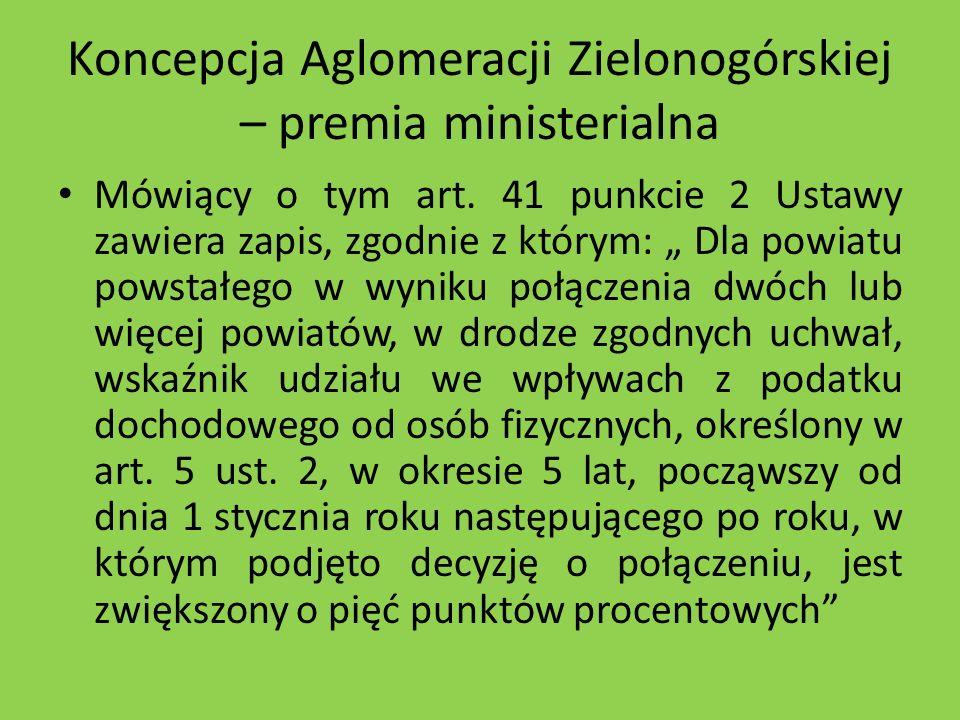 Koncepcja Aglomeracji Zielonogórskiej – premia ministerialna