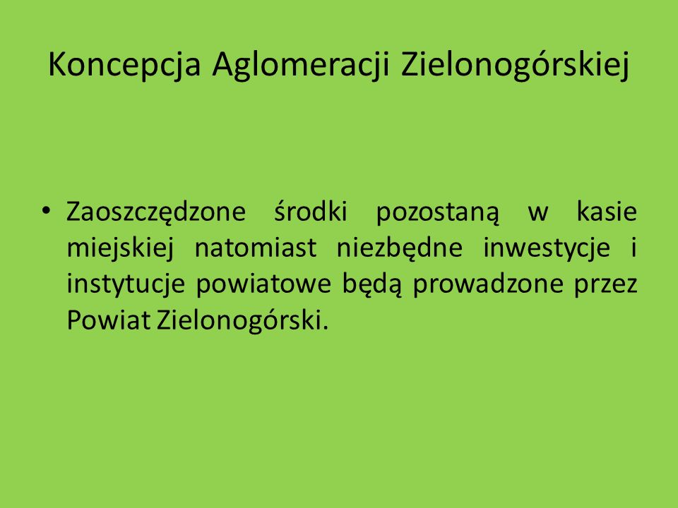 Koncepcja Aglomeracji Zielonogórskiej