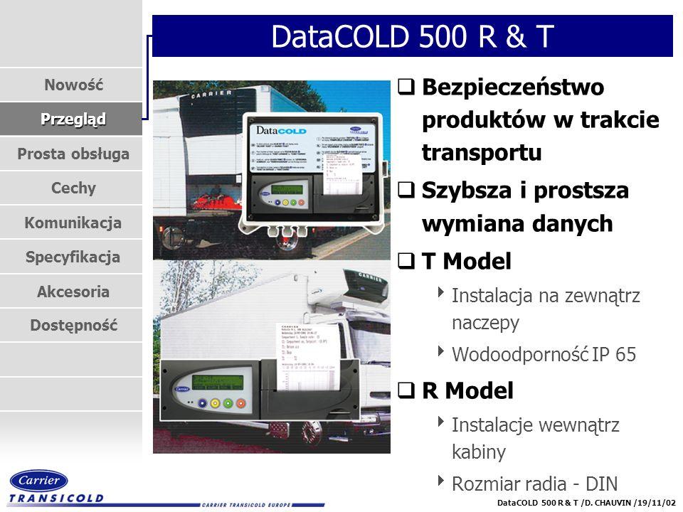DataCOLD 500 R & T Bezpieczeństwo produktów w trakcie transportu