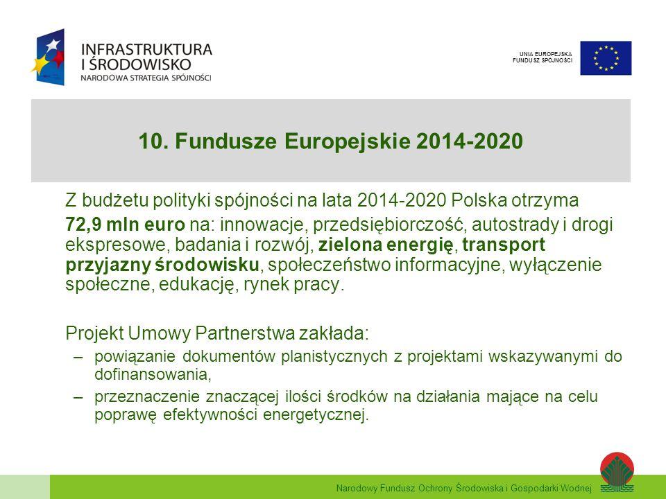 10. Fundusze Europejskie 2014-2020