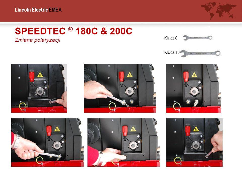 SPEEDTEC ® 180C & 200C Zmiana polaryzacji Klucz 8 Klucz 13