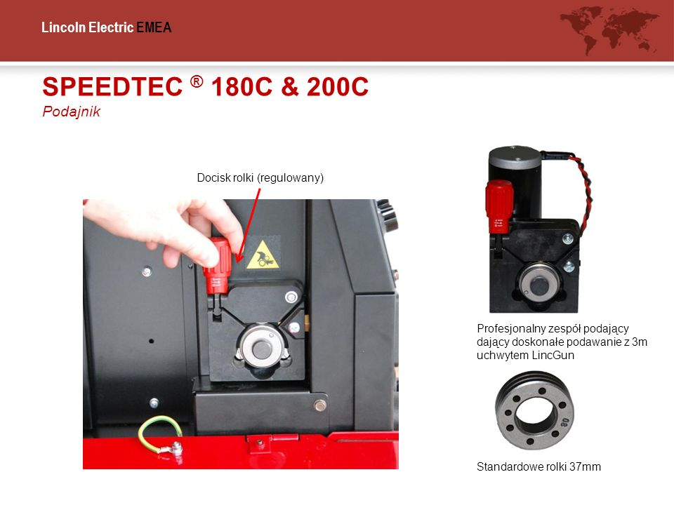 SPEEDTEC ® 180C & 200C Podajnik Docisk rolki (regulowany)