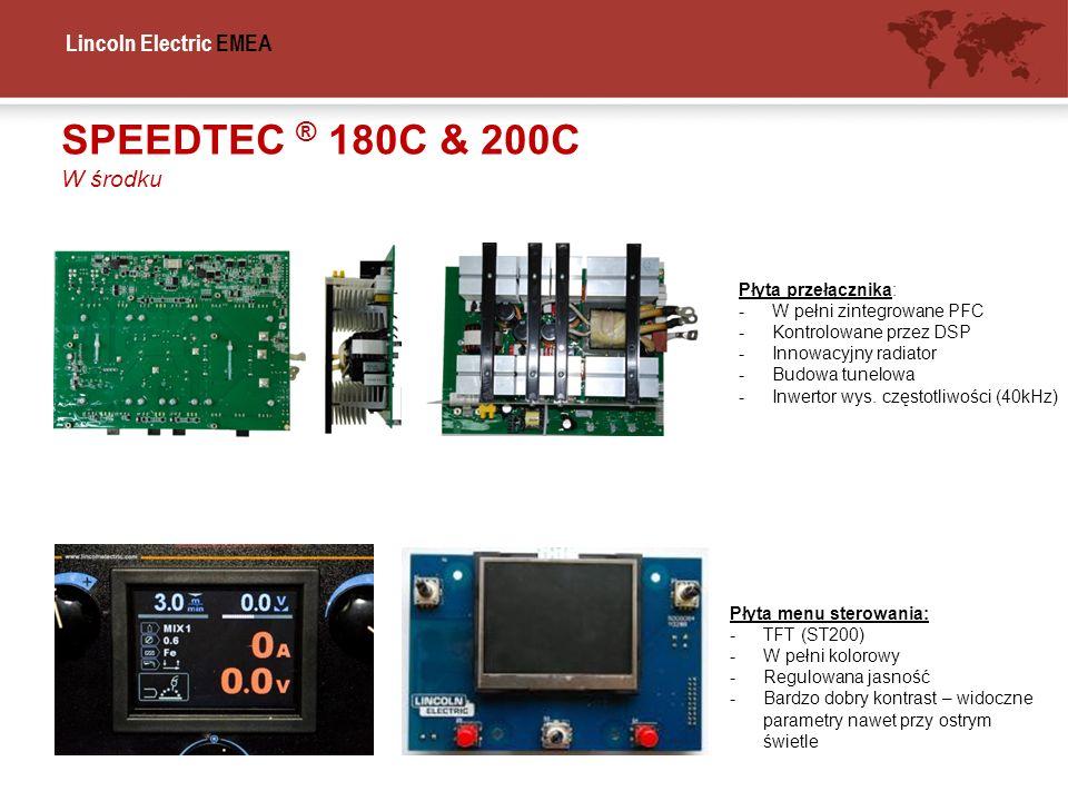 SPEEDTEC ® 180C & 200C W środku Płyta przełącznika: