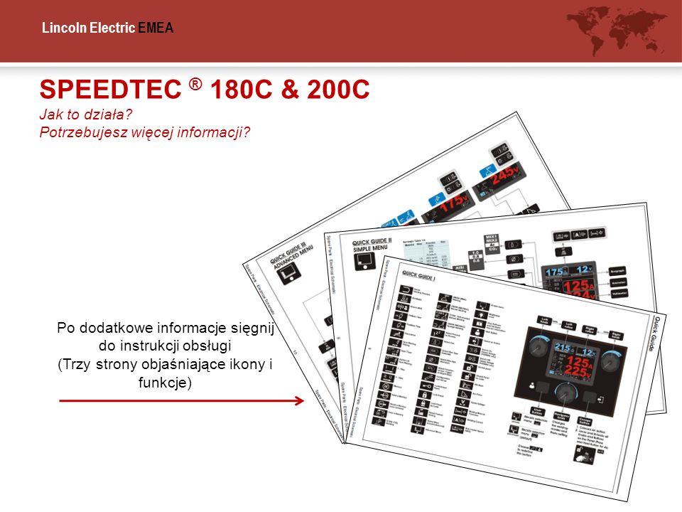 SPEEDTEC ® 180C & 200C Jak to działa Potrzebujesz więcej informacji