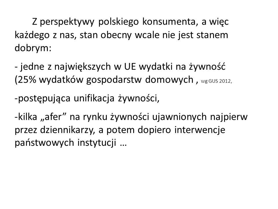 Z perspektywy polskiego konsumenta, a więc każdego z nas, stan obecny wcale nie jest stanem dobrym: