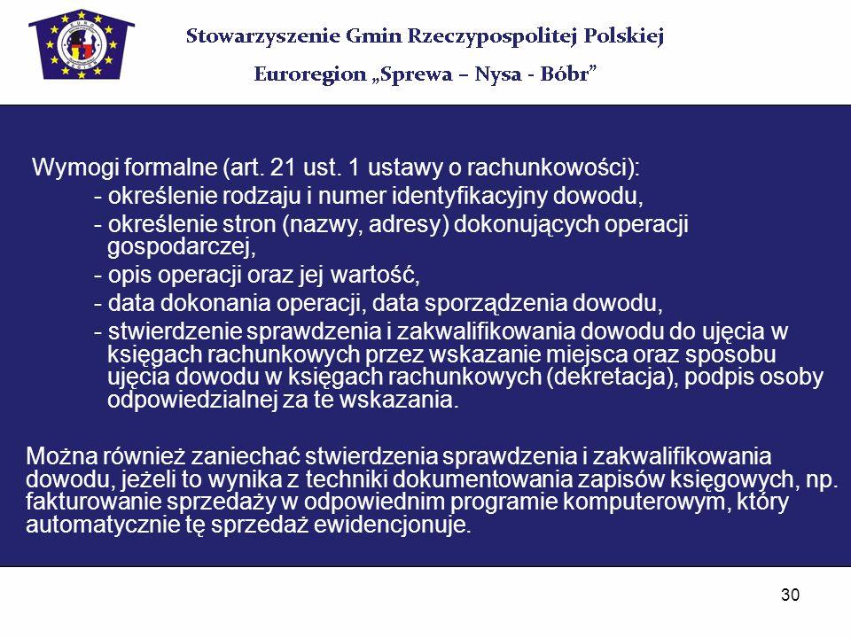 Wymogi formalne (art. 21 ust. 1 ustawy o rachunkowości):