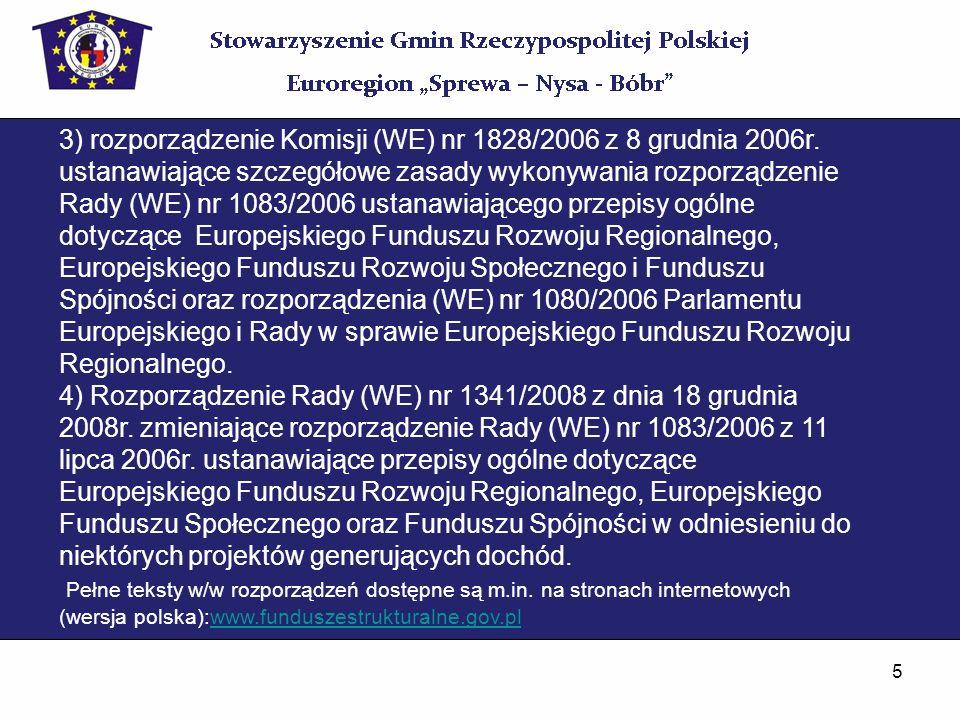 3) rozporządzenie Komisji (WE) nr 1828/2006 z 8 grudnia 2006r