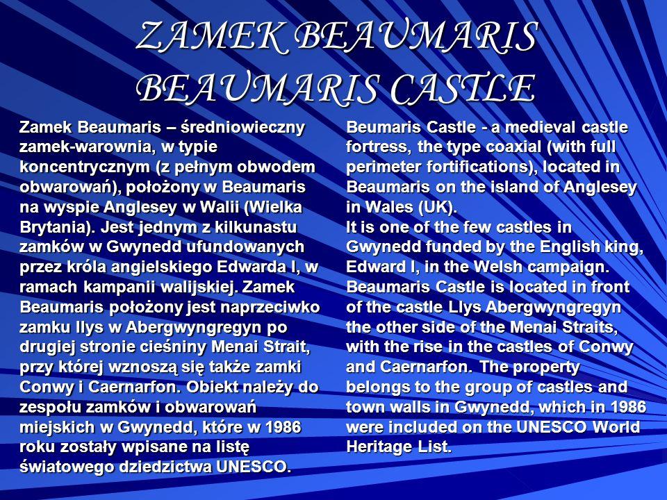 ZAMEK BEAUMARIS BEAUMARIS CASTLE