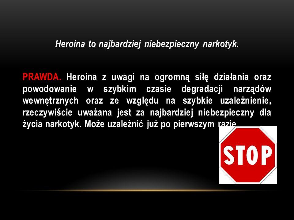 Heroina to najbardziej niebezpieczny narkotyk. PRAWDA