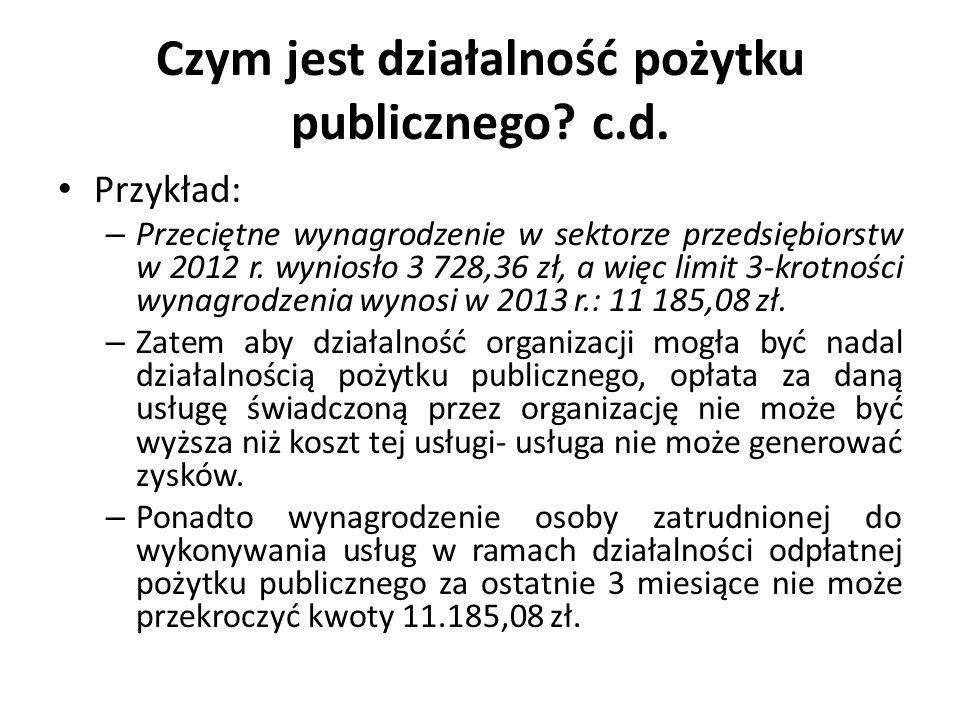 Czym jest działalność pożytku publicznego c.d.