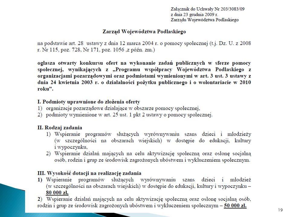 Termin składania wniosków 31.01.2010