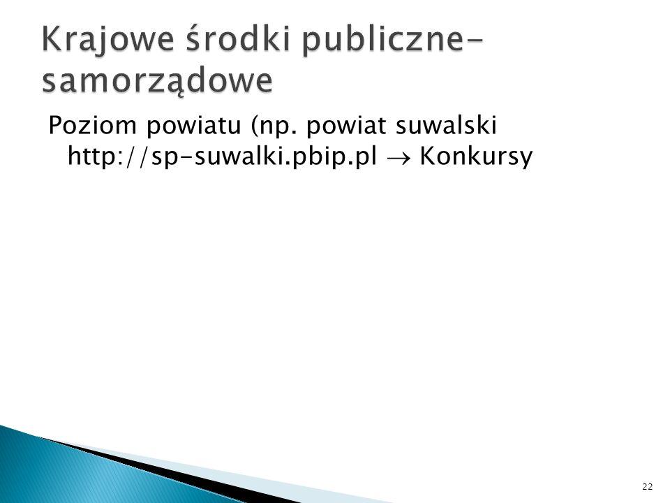 Krajowe środki publiczne- samorządowe