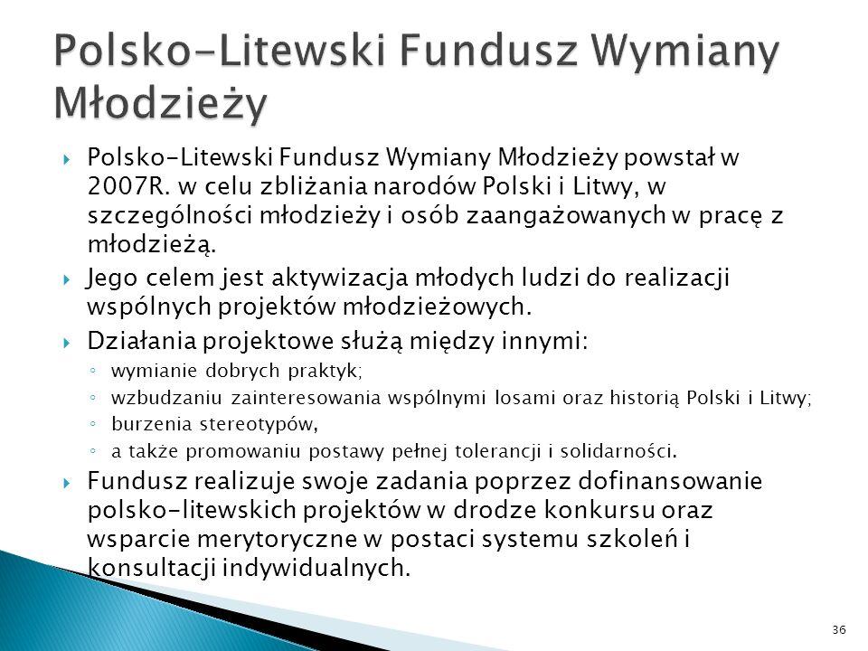 Polsko-Litewski Fundusz Wymiany Młodzieży