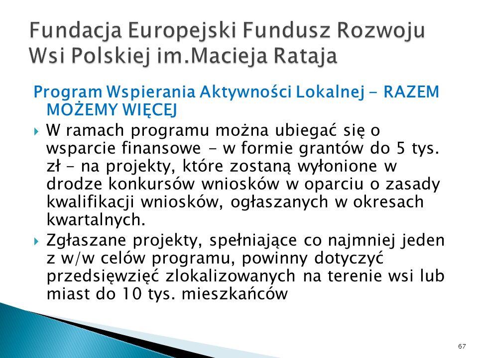 Fundacja Europejski Fundusz Rozwoju Wsi Polskiej im.Macieja Rataja