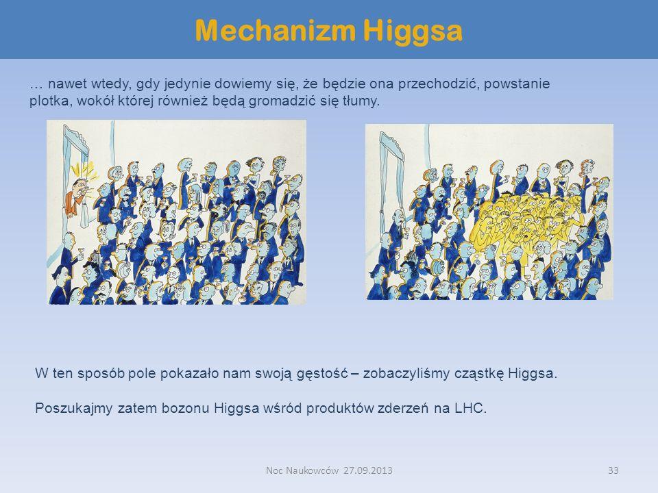 Mechanizm Higgsa… nawet wtedy, gdy jedynie dowiemy się, że będzie ona przechodzić, powstanie plotka, wokół której również będą gromadzić się tłumy.