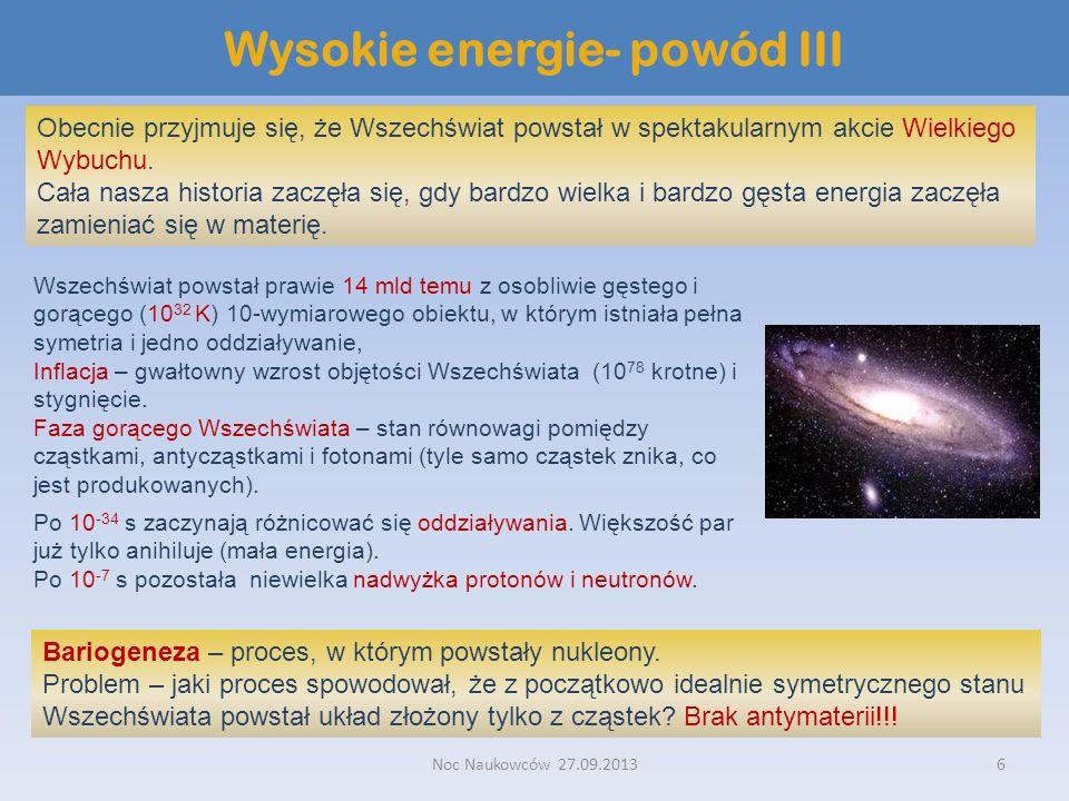 Wysokie energie- powód III