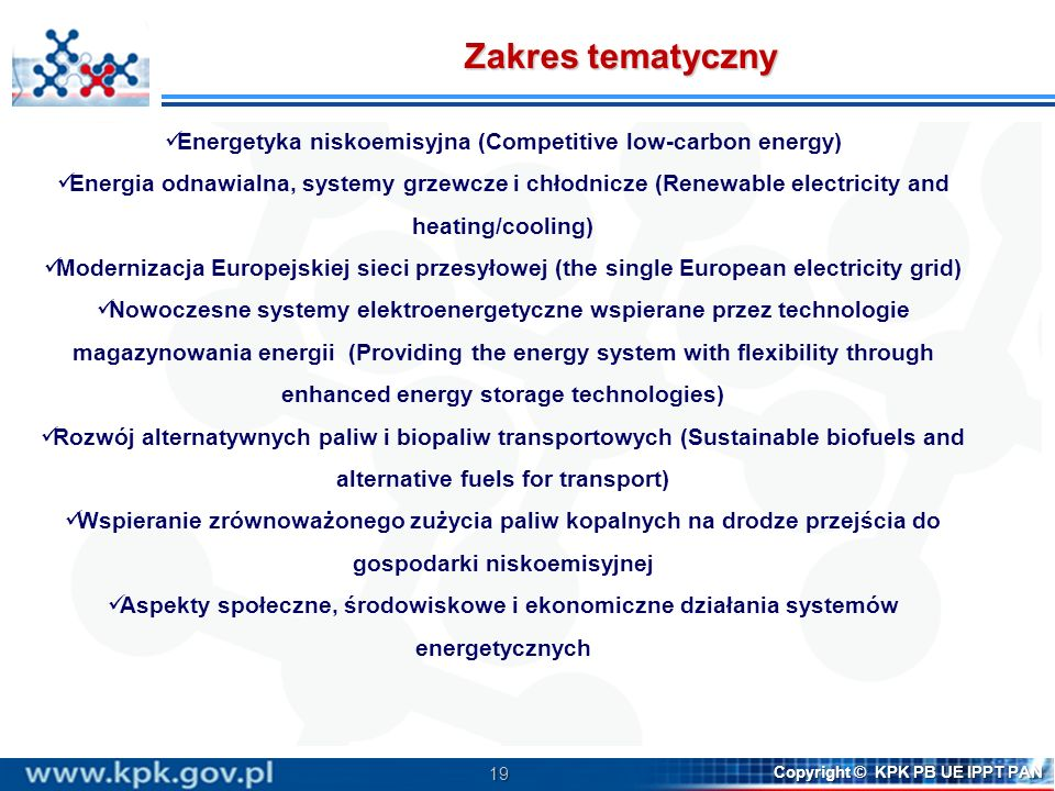 Energetyka niskoemisyjna (Competitive low-carbon energy)