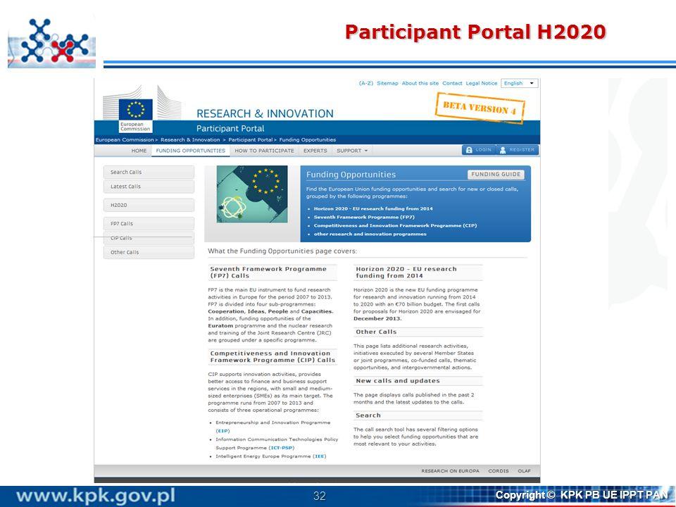 Participant Portal H2020