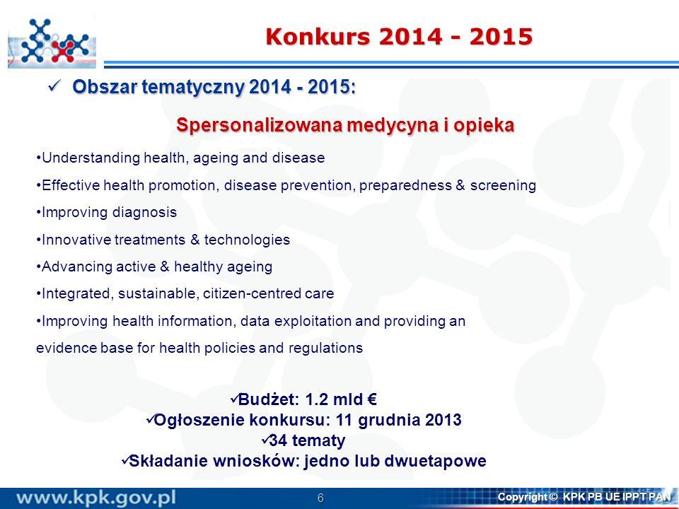 Konkurs 2014 - 2015 Obszar tematyczny 2014 - 2015: