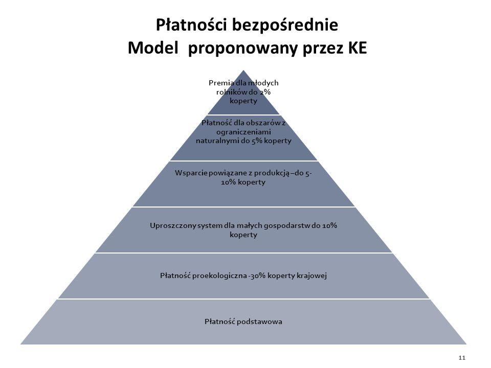 Płatności bezpośrednie Model proponowany przez KE