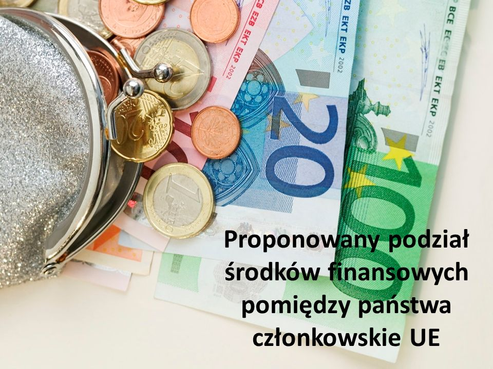 Proponowany podział środków finansowych pomiędzy państwa członkowskie UE