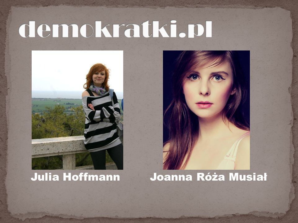 Julia Hoffmann Joanna Róża Musiał