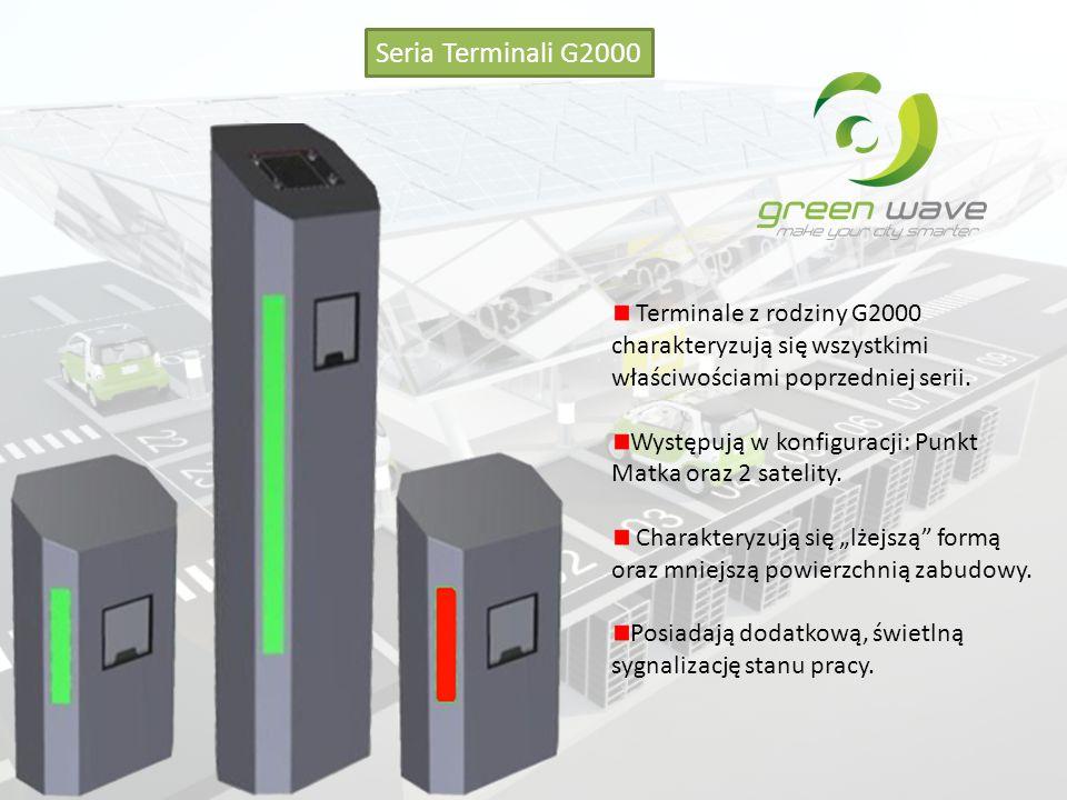 Seria Terminali G2000 Terminale z rodziny G2000 charakteryzują się wszystkimi właściwościami poprzedniej serii.