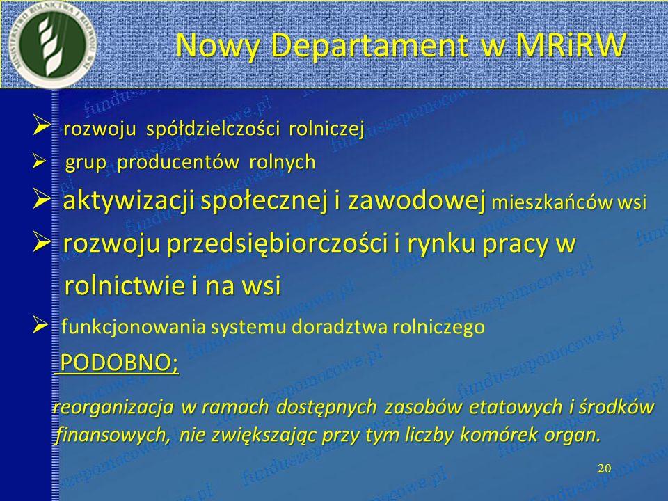 Nowy Departament w MRiRW