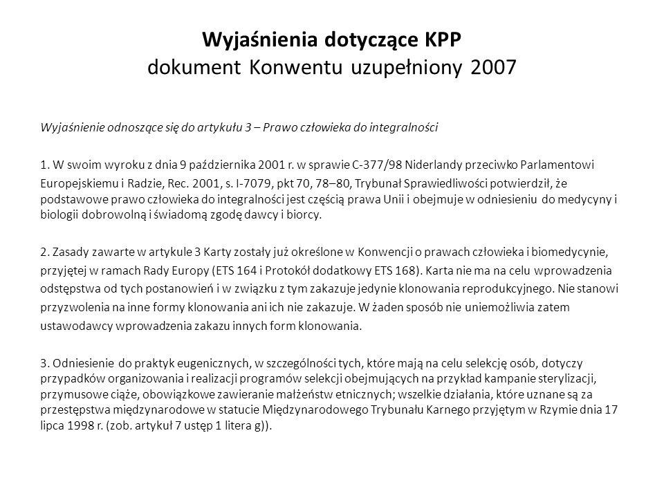 Wyjaśnienia dotyczące KPP dokument Konwentu uzupełniony 2007