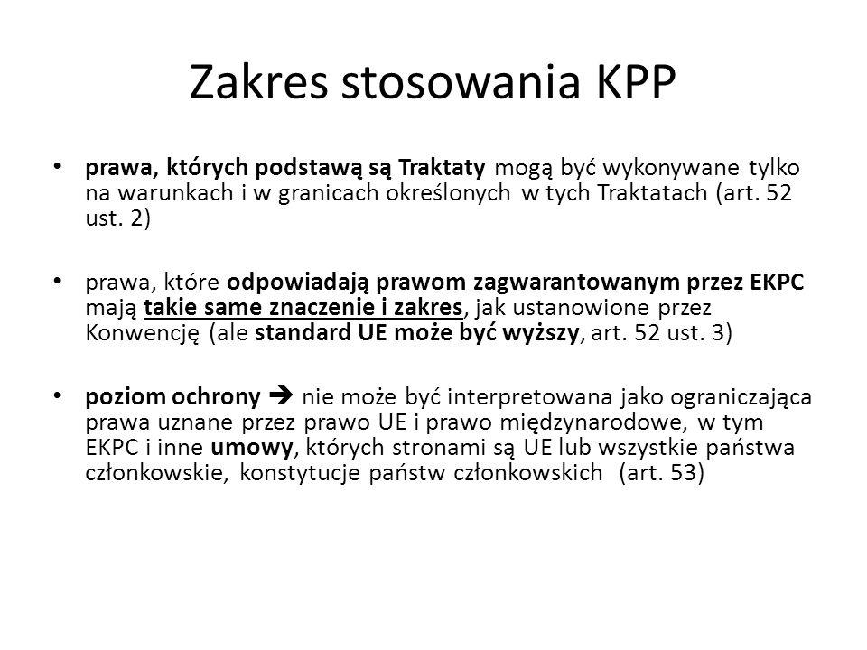 Zakres stosowania KPP