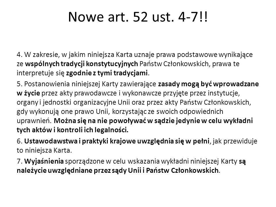 Nowe art. 52 ust. 4-7!!