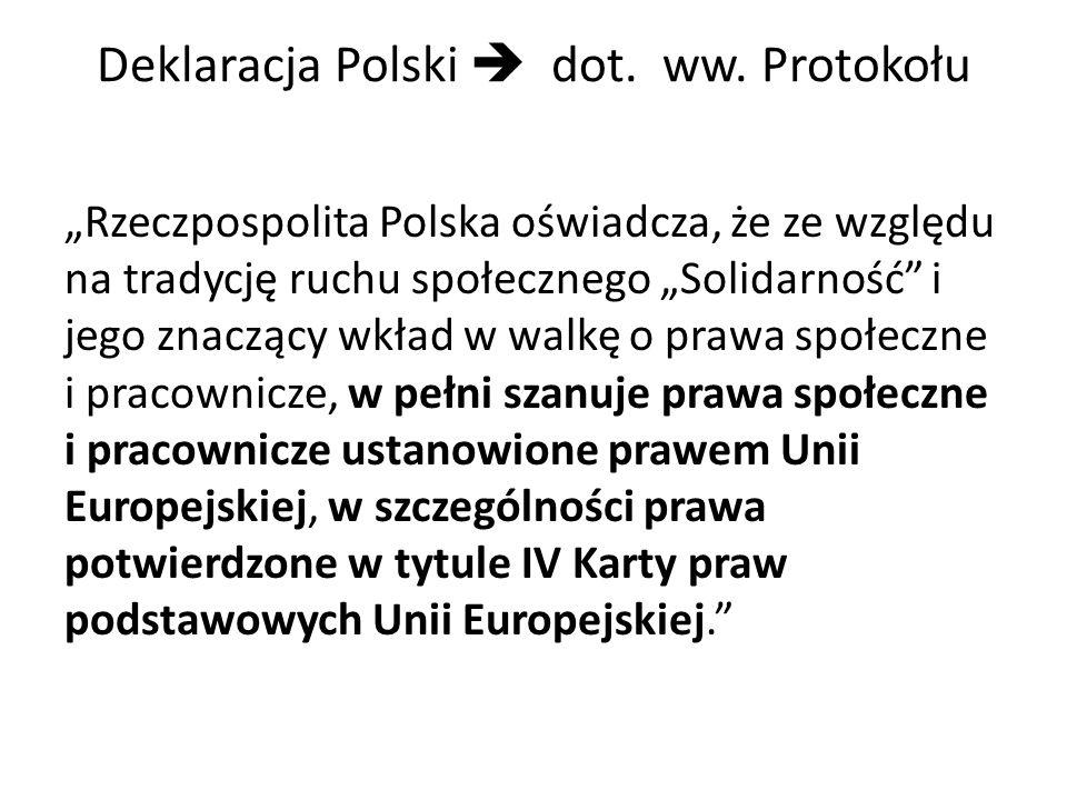 Deklaracja Polski  dot. ww. Protokołu