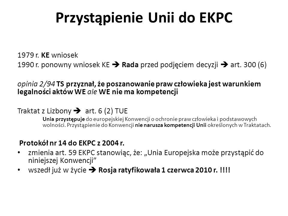 Przystąpienie Unii do EKPC