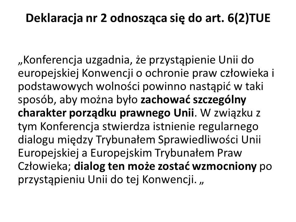 Deklaracja nr 2 odnosząca się do art. 6(2)TUE