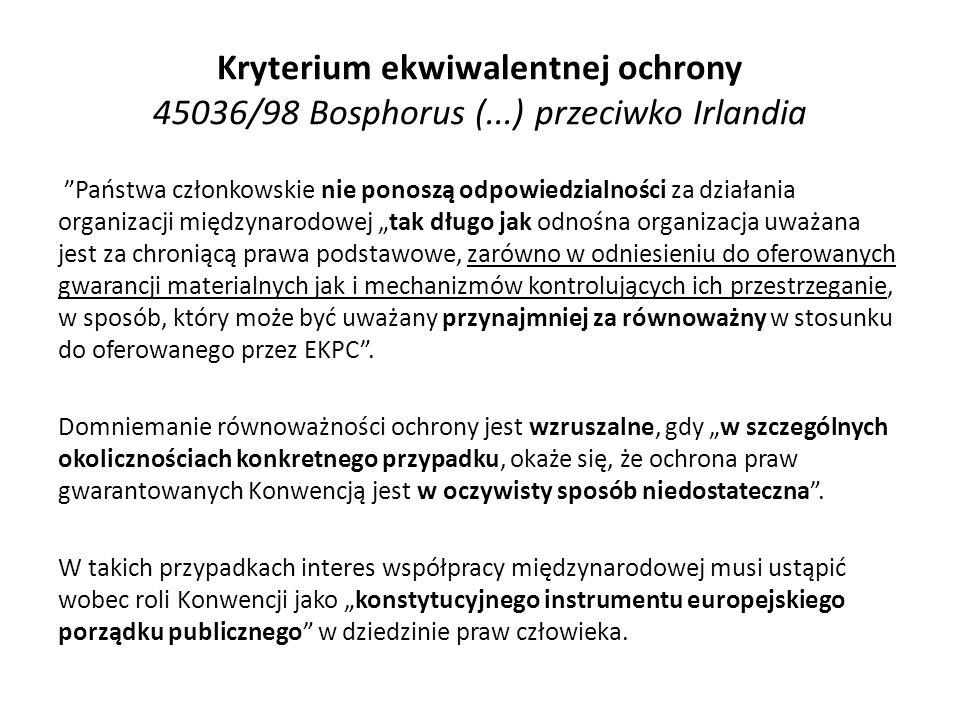 Kryterium ekwiwalentnej ochrony 45036/98 Bosphorus (
