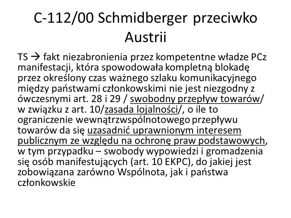 C-112/00 Schmidberger przeciwko Austrii