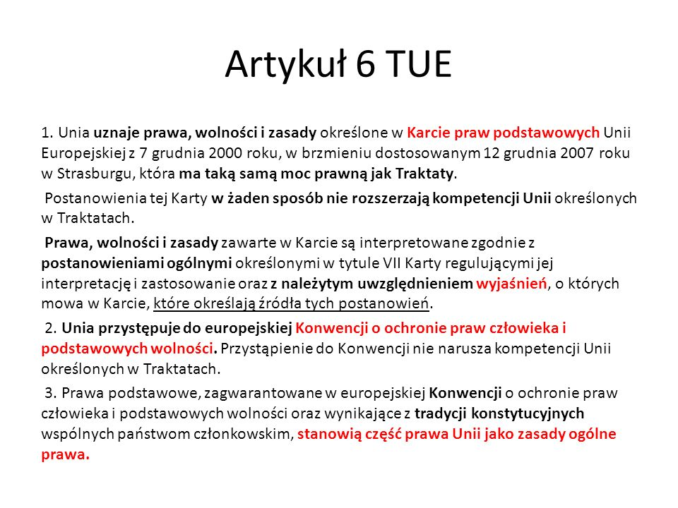 Artykuł 6 TUE