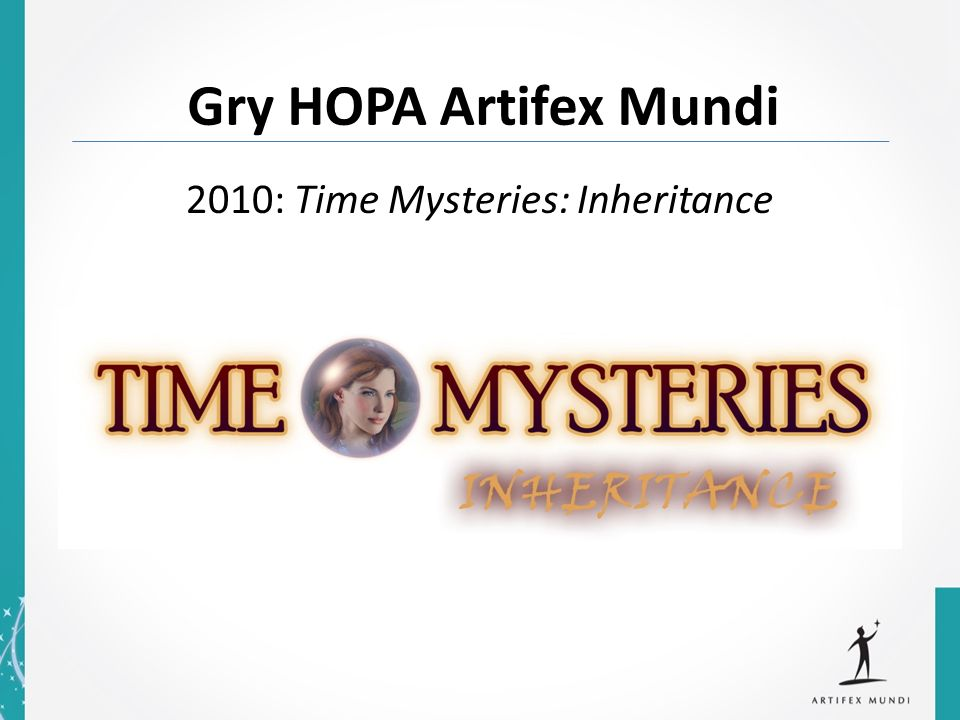 2010: Time Mysteries: Inheritance