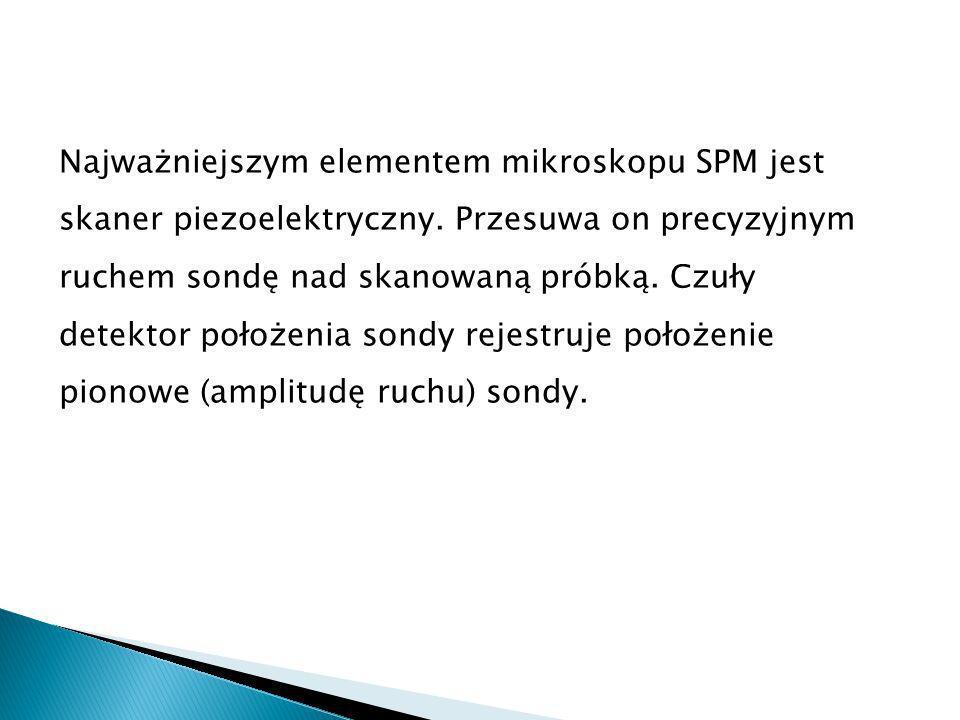 Najważniejszym elementem mikroskopu SPM jest skaner piezoelektryczny