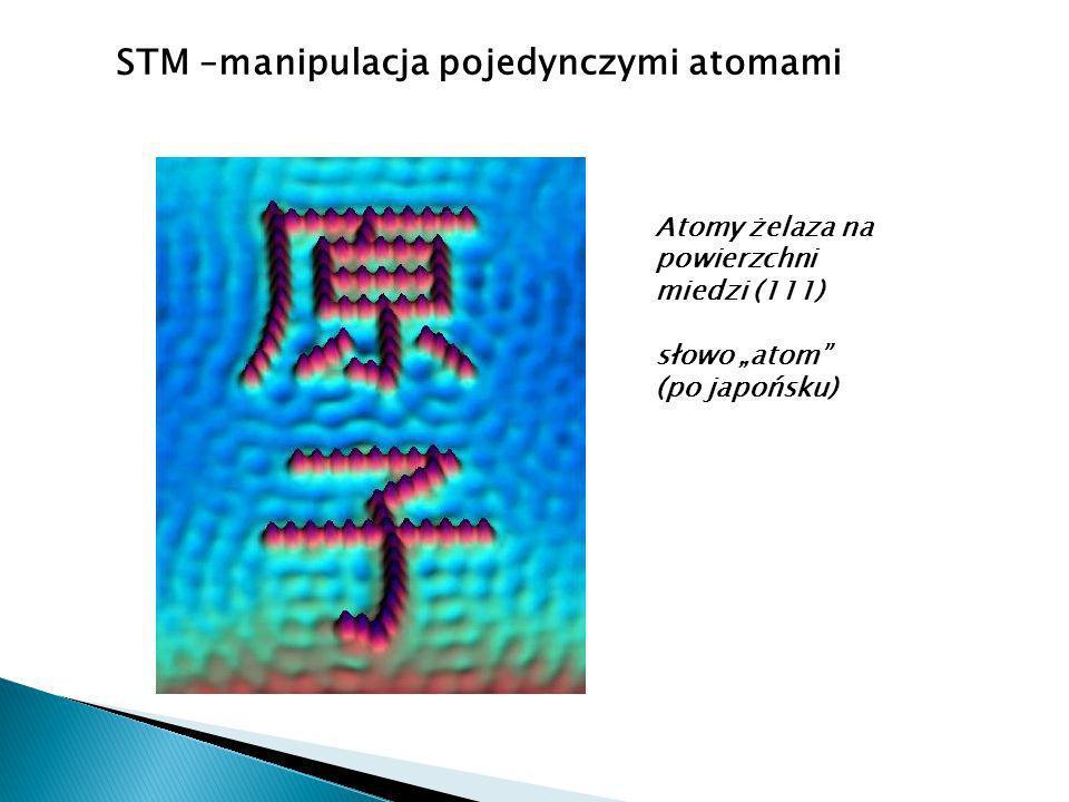 STM –manipulacja pojedynczymi atomami