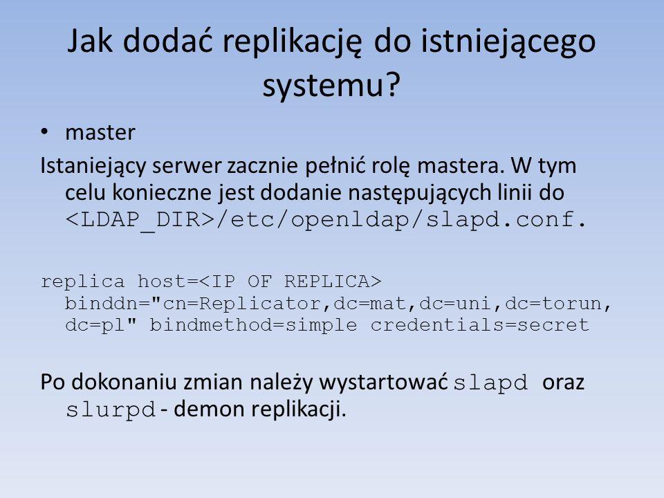 Jak dodać replikację do istniejącego systemu