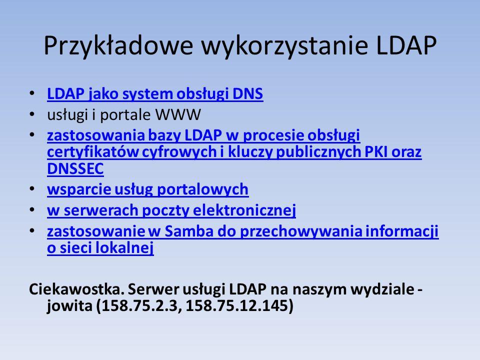 Przykładowe wykorzystanie LDAP