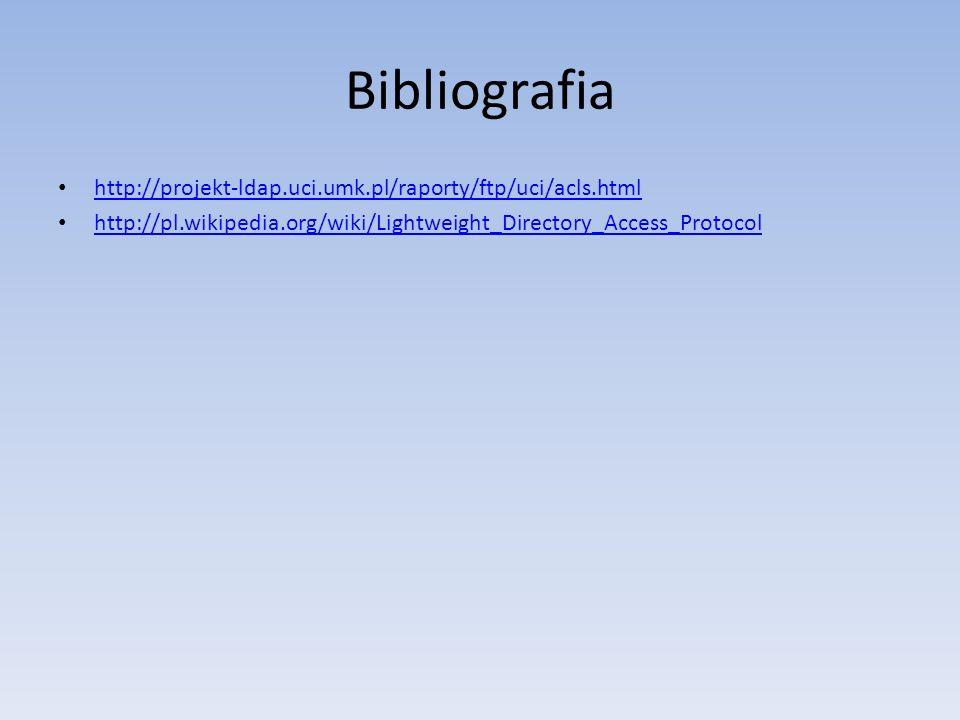 Bibliografia http://projekt-ldap.uci.umk.pl/raporty/ftp/uci/acls.html