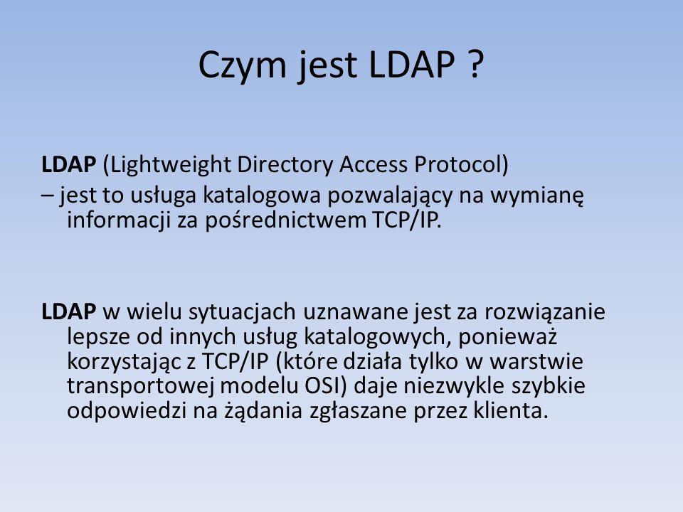 Czym jest LDAP LDAP (Lightweight Directory Access Protocol)