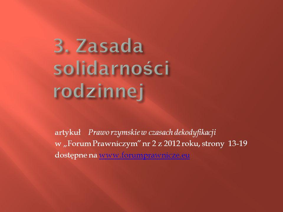 3. Zasada solidarności rodzinnej